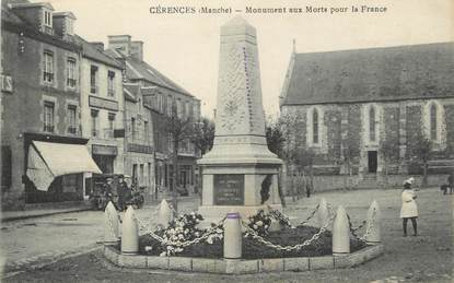 "CPA FRANCE 50 "" Cérences, Monument aux morts""."