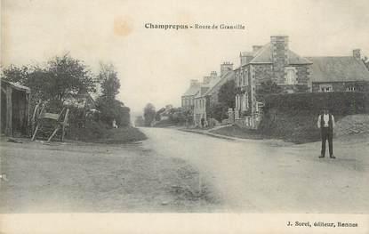 """CPA FRANCE 50 """" Champrepus, Route de Granville""""."""
