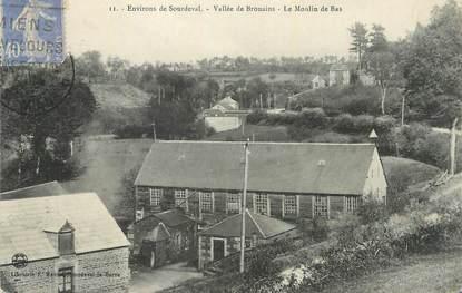 """CPA FRANCE 50 """" Sourdeval, Vallée de Brouains, le moulin bas""""."""