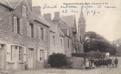 """CPA FRANCE 50 """" Briqueville sur Mer, Route de la Mer""""."""