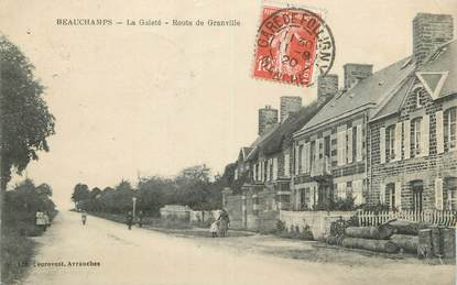 "CPA FRANCE 50 "" Beauchamps, La gaieté route de Granville""."