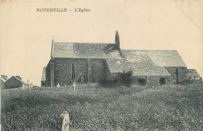 """CPA FRANCE 50 """" Auderville, L'église""""."""