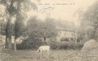 """CPA FRANCE 50 """" Agon, Le vieux moulin""""."""