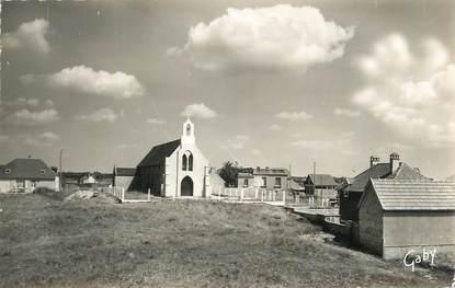 """CPSM FRANCE 50 """" Pirou Plage, La chapelle'."""