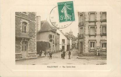 "CPA FRANCE 56 "" Malestroit, Rue Ste Anne""."