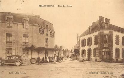 """CPA FRANCE 56 """" Malestroit, Rue des écoles""""."""