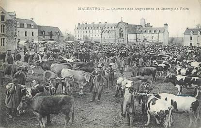 """CPA FRANCE 56 """" Malestroit, Couvent des Augustines et champ de foire""""."""