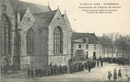 """CPA FRANCE 56 """" Ploermel, Inventaire de l'Eglise St Armel""""."""