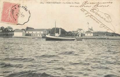 """CPA FRANCE 56 """" Port Navalo, La criée, le phare""""."""