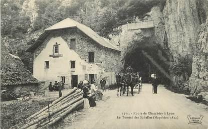 """CPA FRANCE 73 """"Rte de Chambéry à Lyon, Le Tunnel des Echelles"""""""