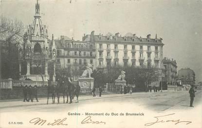 """CPA SUISSE """"Genève, monument du Duc de Brunswick"""""""