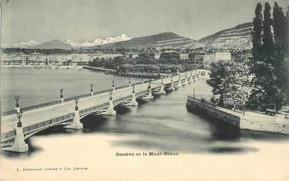"""CPA SUISSE """"Genève et le Mont Blanc"""""""