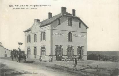 """CPA FRANCE 56 """" Le Camp de Coëtquidan, Le Grand Hôtel Belle Vue""""."""