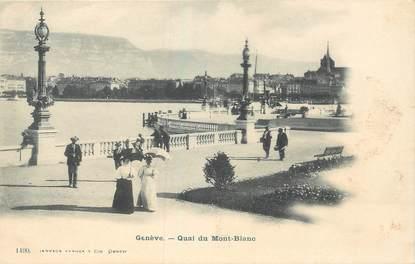 """CPA SUISSE """"Genève, Quai du Mont Blanc"""""""
