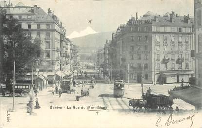 """CPA SUISSE """"Genève, la Rue du Mont Blanc"""""""