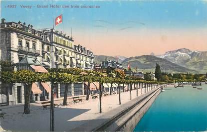"""CPA SUISSE """"Vevey, Grand Hotel des trois couronnes"""""""