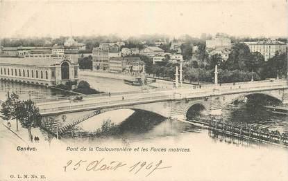 """CPA SUISSE """"Genève, Pont de la Coulouvrenière"""""""