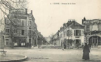 """CPA FRANCE 58 """" Cosne, Avenue de la Gare""""."""