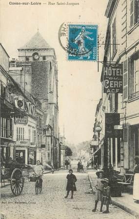 """CPA FRANCE 58 """" Cosne sur Loire, Rue St Jacques"""";"""