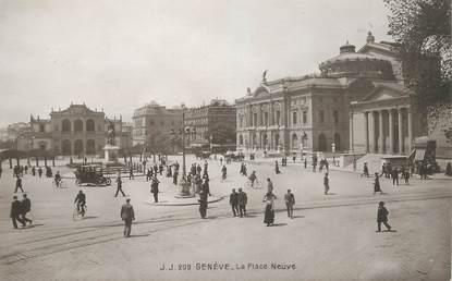 """CPA SUISSE """"Genève, la Place Neuve"""""""