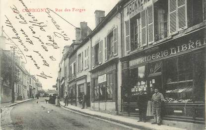 "CPA FRANCE 58 "" Corbigny, Rue des forges""."