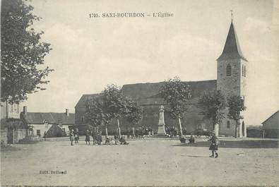 "CPA FRANCE 58 ""Saxy Bourdon, L'église""."