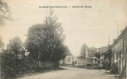"""CPA FRANCE 58 """"St Martin d'Heuille, Entrée du bourg""""."""