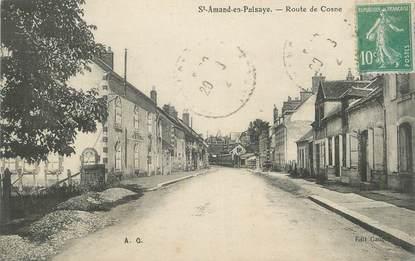 """CPA FRANCE 58 """"St Amand en Puisaye, Route de Cosne""""."""