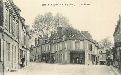 """CPA FRANCE 58 """"St Benin d'Azy, Rue Thiers""""."""