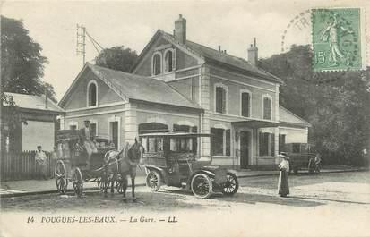 """CPA FRANCE 58 """"Pougues les Eaux, La gare""""."""
