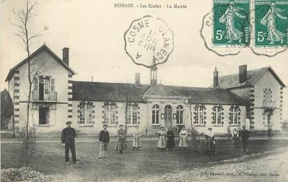 """CPA FRANCE 58 """" Nohain, Les écoles, la Mairie""""."""