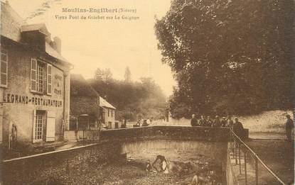 """CPA FRANCE 58 """" Moulins Engilbert, Vieux pont du Guichet sur le Guignon""""."""
