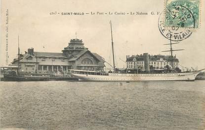 """CPA FRANCE 35 """"Saint Malo, le Port et le casino"""" / BATEAU"""