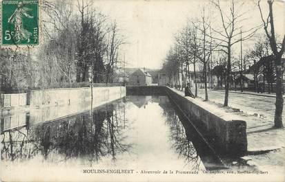 """CPA FRANCE 58 """" Moulins Engilbert, Abreuvoir de la promenade""""."""