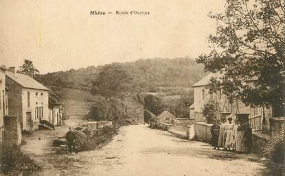 """CPA FRANCE 58 """" Mhère, Route d'Ouroux""""."""