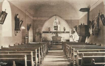 """CPA FRANCE 58 """" Montigny en Morvand, Intérieur de l'église""""."""