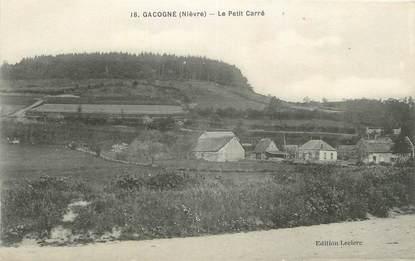 """CPA FRANCE 58 """"Gacogne, Le petit carré""""."""