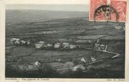 """CPA FRANCE 58 """"Gacogne, Vue générale de Lavault""""."""