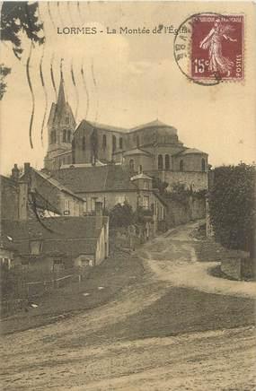 """CPA FRANCE 58 """"Lormes, La montée de l'église""""."""