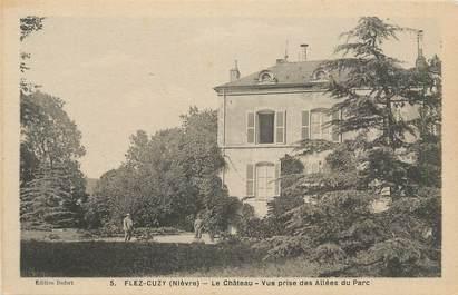"CPA FRANCE 58 ""Flez Cuzy, Le château""."