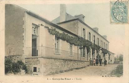 """CPA FRANCE 58 """"Cercy la Tour, L'école""""."""