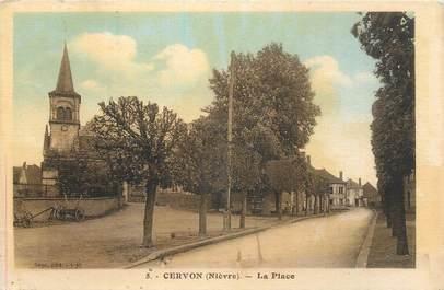 """CPA FRANCE 58 """"Cervon, La place""""."""