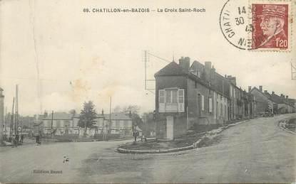 """CPA FRANCE 58 """"Chatillon en Bazois, La Croix St Roch""""."""