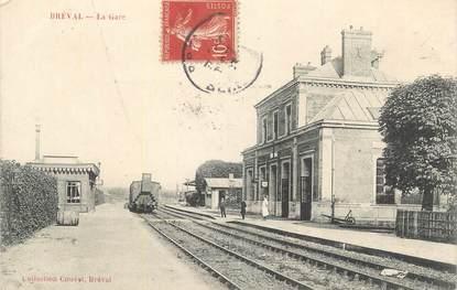 "CPA FRANCE 78 ""Bréval, La gare""."