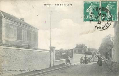 """CPA FRANCE 78 """"Bréval, Rue de la gare""""."""