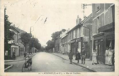 """CPA FRANCE 78 """" Achères, Rue de Conflans""""."""