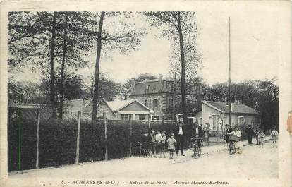 """CPA FRANCE 78 """" Achères, Entrée de la forêt, avenue Maurice Berteaux""""."""