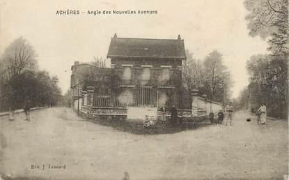 """CPA FRANCE 78 """" Achères, Angle des nouvelles avenues""""."""