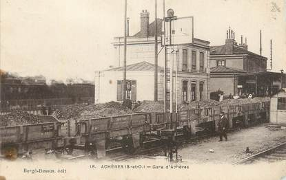 "CPA FRANCE 78 "" Achères, La gare""."