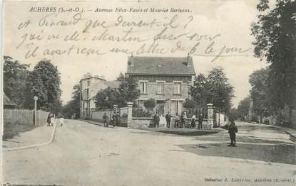 """CPA FRANCE 78 """" Achères, Avenue Félix Faure et Maurice Berteaux""""."""
